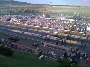 Incredible view of the Mopar Mile High NHRA Nationals