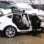 Tesla has some really cool ideas The Model X holds 8 people and the world's largest iPad