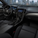 The 2013 Cadillac ATS compact luxury sedan features a driver-focused interior with thoughtfully crafted materials and the intuitively integrated CUE technology, a comprehensive in-vehicle experience that merges intuitive design with auto industry-first controls and commands for information and entertainment data. There are also seven interior color and trim combinations, complementing the dynamic exterior design elements and supporting the ATS fun-to-drive attitude.